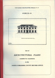 NYCRO Guide Number Ten: list of architectural plans